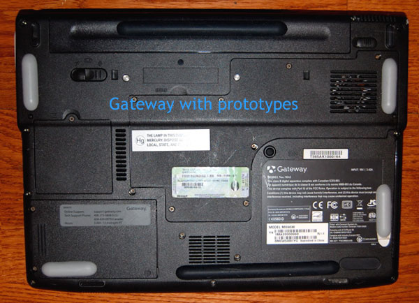 Gateway computer with Laptop Lifts installed